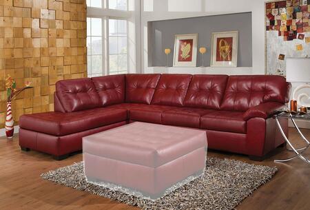 Acme Furniture Shi Series 53620 Sectional Sofa Red, Sectional Sofa