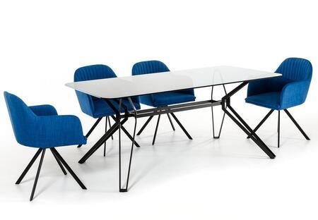 VIG Furniture Modrest Synergy VGEUMC6112DTBCH Dining Room Set Black, 1