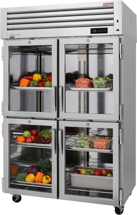 PRO-50-4R-G-N 52″ Pro Series Glass Half Door Reach-In Refrigerator with 48.7 cu. ft. Capacity  Self-Cleaning Condenser  Digital Temperature Control &