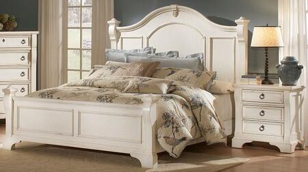 American Woodcrafters Heirloom Antique White 2 Piece Queen Size Bedroom Set