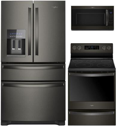 Whirlpool  995699 Kitchen Appliance Package Black Stainless Steel, main image