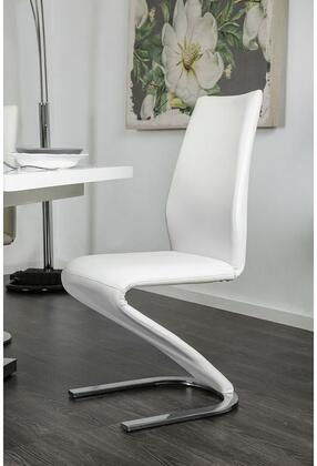 Furniture of America Midvale CM3650SC2PK Dining Room Chair White, Main Image
