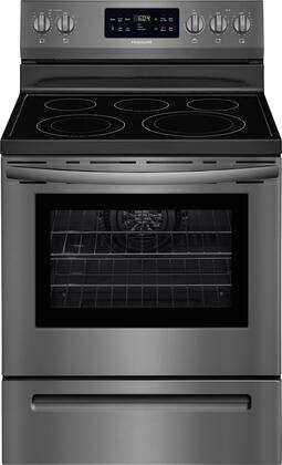 Frigidaire FFEF3056TD 30 Inch Freestanding Electric Range with 5 Elements, Smoothtop Cooktop, 5.4 cu. ft. Primary Oven Capacity, in Black Stainless Steel