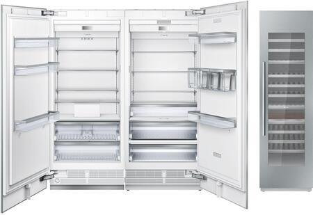 Thermador  1044966 Column Refrigerator & Freezer Set Panel Ready, main image