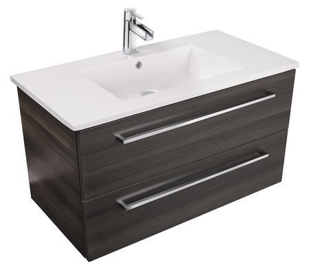 Cutler Kitchen and Bath Silhouette FVZAMBUKKA30 Sink Vanity Brown, Main Image
