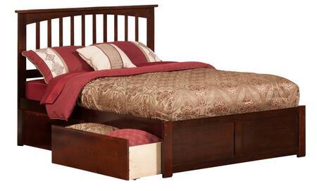Atlantic Furniture Mission AR8732114 Bed Brown, AR8732114 side