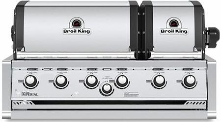 957074 Imperial XLS 70 Liquid Propane Built-In Grill with 6 Main Burners  60000 BTU Main Burner Output  and 15000 BTU Stainless Steel Rear Rotisserie