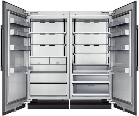 Dacor Contemporary 865463 Column Refrigerator & Freezer Set Panel Ready, 1
