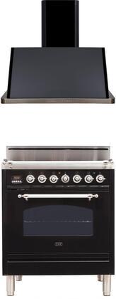 Ilve  1311362 Kitchen Appliance Package Black, Main Image