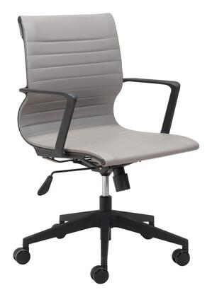 Zuo Stacy 102008 Office Chair Gray, 102008 1
