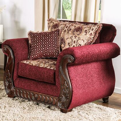 Furniture of America Tabitha SM6110CH Living Room Chair Red, Main Image