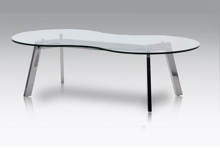 J and M Furniture Corso 18239 Coffee and Cocktail Table Silver, Main Image