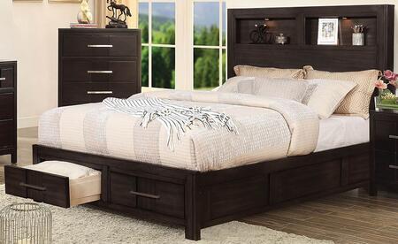 Furniture of America Karla CM7500XBED Bed Brown, 1