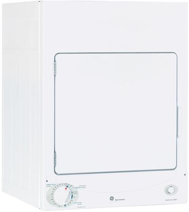 GE Spacemaker DSKS333ECWW Electric Dryer White, Main View
