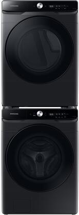 Samsung  1396924 Washer & Dryer Set Black Stainless Steel, 1