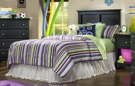 Carolina Furniture Midnight 43743098200079091 Bed Black, Main Image