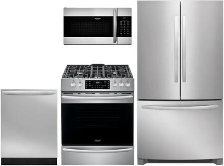 4 Piece Kitchen Appliances Package with FFHN2750TS 36″ French Door Refrigerator  FGGH3047VF 30″ de-in Gas Range  FGMV155CTF 30″ Over the Range