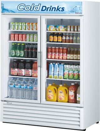Turbo Air TGM50RSN Display and Merchandising Refrigerator White, TGM50RSN Angled View