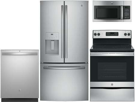 GE  840709 Kitchen Appliance Package Stainless Steel, main image