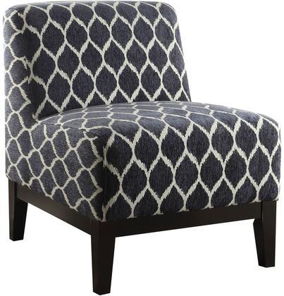 Acme Furniture Hinte 59501 Accent Chair Blue, Accent Chair