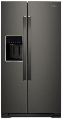 Whirlpool  WRS588FIHV Side-By-Side Refrigerator Black Stainless Steel, Main Image