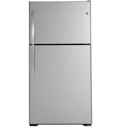 GE  GIE22JSNRSS Top Freezer Refrigerator Stainless Steel, Main Image