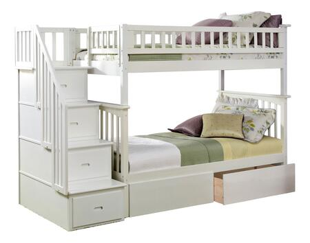 Atlantic Furniture Columbia AB55642 Bed White, AB55642 SILO BD2 30