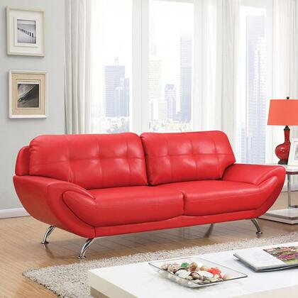 Furniture of America Reanna CM6414RDSF Stationary Sofa Red, Main Image