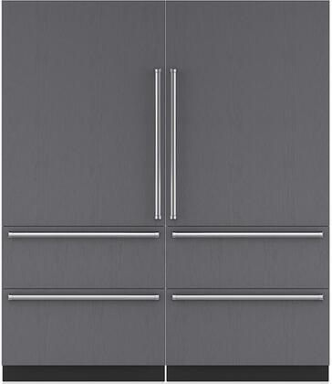 Sub-Zero Designer 710382 Refrigerator and Freezer Pairs Panel Ready, Main Image