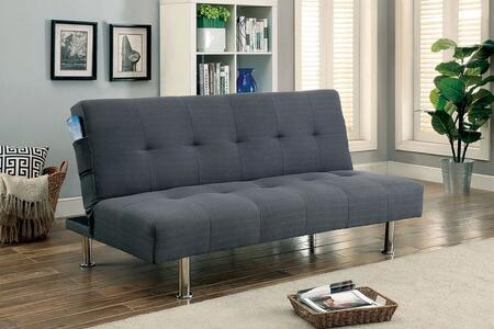 Furniture of America Dewey CM2679GY Futon Gray, Main Image