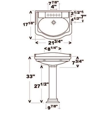 Barclay  3868BQ Sink Bisque, Specifications