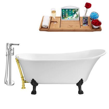 Streamline NH340BLGLD120 Bath Tub, NH340BL GLD 120 1T