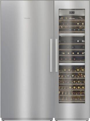 Miele  1330008 Column Refrigerator & Freezer Set Stainless Steel, 1