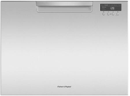 Fisher Paykel DD24SCTX9N Built-In Dishwasher Stainless Steel, Front View
