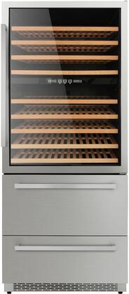 "Thor kitchen HWC2404U 208 Bottles 30"" Built-in Wine Cooler, Stainless Steel"