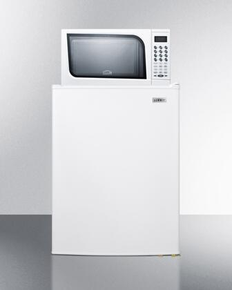 MRF701W Compact Refrigerator-Freezer-Microwave Combination Unit with 6 cu. ft. Capacity  Manual Defrost  Reversible Door  in
