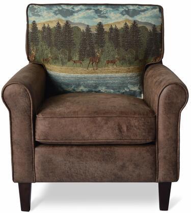 Buck Collection BUCK-CH-CHESTNUT  Accent Chair – Chestnut in