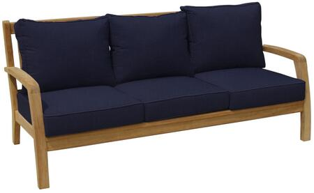 Douglas Nance Somerset DN2303NAVY Outdoor Patio Sofa Brown, DN2303NAVY Main Image