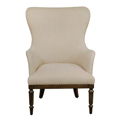 156DS-D153-706-474 Wood Framed Wingback Arm Chair in Latte