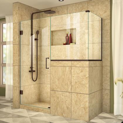DreamLine  SHEN242336343606 Shower Enclosure , UnidoorPlus Shower Door 39 30D 30BP 30RP 06