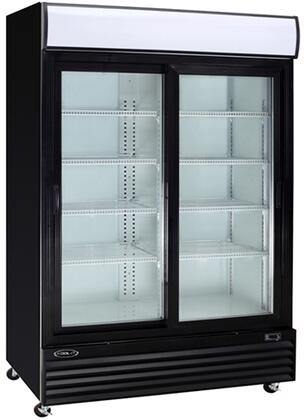 KGM-42 53″ Glass Door Refrigerator with 37.1 cu. ft. Capacity  Digital Temperature Display and LED Lighting  in