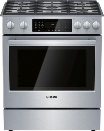 HDI8056U 30″ 800 Series Dual Fuel Slide-In Range with 5 Sealed Burners  4.6 cu. ft. Oven  Genuine European Convection and Warming Drawer  Smoothtop