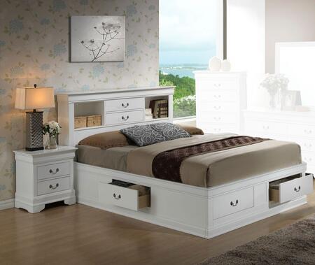 Glory Furniture G3190 G3190BFSBEDROOMSET Bedroom Set White, Main View