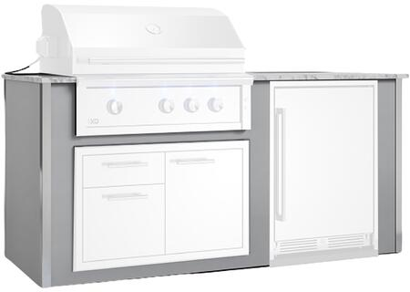 "XOGOK36V2GR 80"" Appliance Ready Pre-Assembled Designer Island for 36"" Grill in"