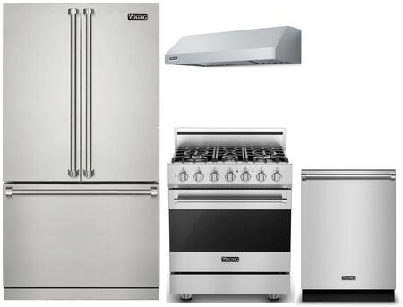 Viking 3 Series 1310511 Kitchen Appliance Package Stainless Steel, main image