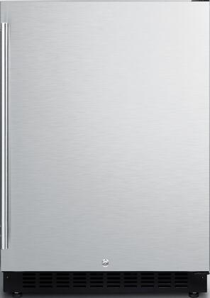 Summit  AL54 Compact Refrigerator Stainless Steel, AL54 Front View