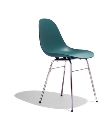 TA Collection TO-1711OB-1502C Upholstered Side Chair/Er Base Chrome/Ocean Blue
