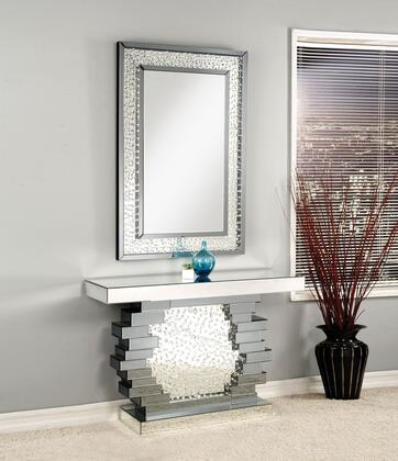 Acme Furniture Nysa 90232SET Console Silver, Console Table and Mirror