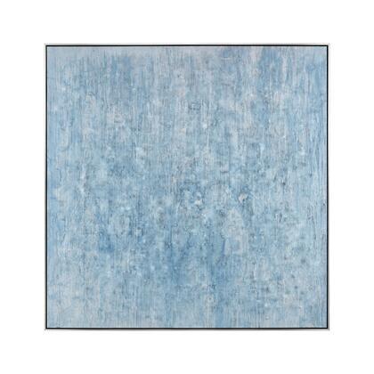 1219-061 Glass Sea Wall Decor  In Sea Blue And