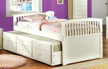 Furniture of America Bella CM7035WXBED Bed White, 1